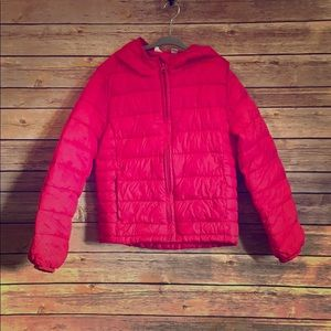Gap girls pink lightweight puffy jacket